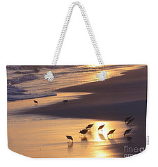 Weekender Tote Bag featuring the photograph Sunset Beach by Nava Thompson