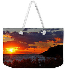 Sunset By The Beach Weekender Tote Bag by Davandra Cribbie