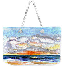 Weekender Tote Bag featuring the painting Sunset Clouds by Clara Sue Beym