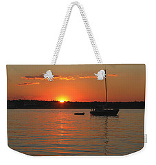 Weekender Tote Bag featuring the photograph Sunset Cove by Clara Sue Beym