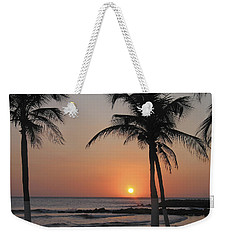 Weekender Tote Bag featuring the photograph Sunset by David Gleeson