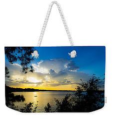 Sunset Fishing Weekender Tote Bag