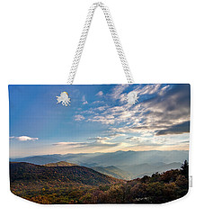 Weekender Tote Bag featuring the photograph Sunset From The Bald by Dan Wells