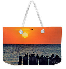 Weekender Tote Bag featuring the photograph Sunset In Florida by Lydia Holly