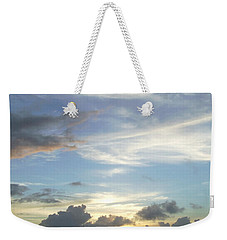 Weekender Tote Bag featuring the photograph Sunset In Majuro by Andrea Anderegg