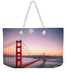 Sunset In San Francisco Weekender Tote Bag by Jim And Emily Bush