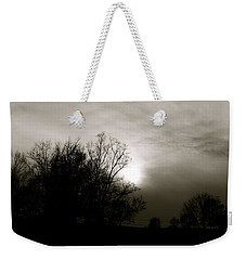 Weekender Tote Bag featuring the photograph Sunset by Kume Bryant