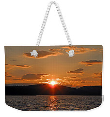 Weekender Tote Bag featuring the photograph Sunset by Lynda Lehmann