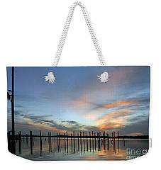 Weekender Tote Bag featuring the photograph sunset marina Everglades by Dan Friend