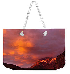 Sunset Murren Switzerland Weekender Tote Bag