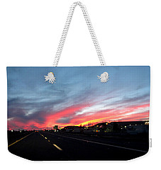 Sunset On Route 66 Weekender Tote Bag