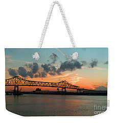 Sunset On The Mississippi  Weekender Tote Bag by Lydia Holly