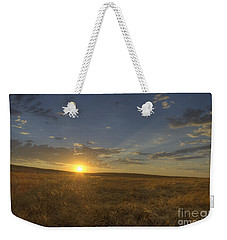 Sunset On The Prairie Weekender Tote Bag by Jim and Emily Bush