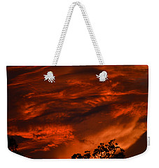 Weekender Tote Bag featuring the photograph Sunset Over Altoona by DigiArt Diaries by Vicky B Fuller