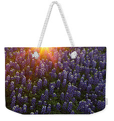 Sunset Over Bluebonnets Weekender Tote Bag