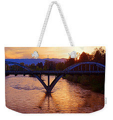 Sunset Over Caveman Bridge Weekender Tote Bag