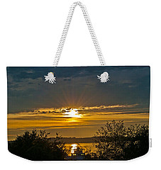 Weekender Tote Bag featuring the photograph Sunset Over Steilacoom Bay by Tikvah's Hope