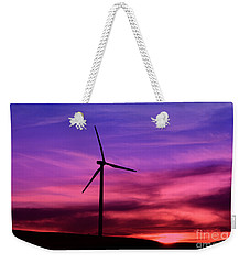 Sunset Windmill Weekender Tote Bag by Alyce Taylor