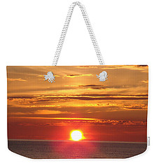 Weekender Tote Bag featuring the photograph Superior Setting by Bonfire Photography