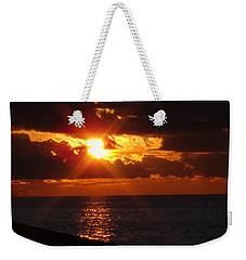 Weekender Tote Bag featuring the photograph Superior Sunset by Bonfire Photography