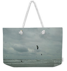 Weekender Tote Bag featuring the photograph Surfing The Wind by Donna Brown