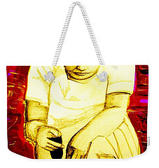 Weekender Tote Bag featuring the mixed media Suruhana by Michelle Dallocchio