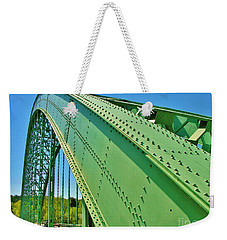 Weekender Tote Bag featuring the photograph Suspension Bridge by Sherman Perry