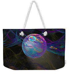 Weekender Tote Bag featuring the digital art Suspension by Victoria Harrington