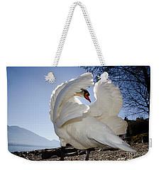 Swan In Backlight Weekender Tote Bag