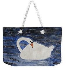 Weekender Tote Bag featuring the painting Swan  by Sonali Gangane