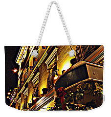 Weekender Tote Bag featuring the photograph Swans Hotel by Marilyn Wilson