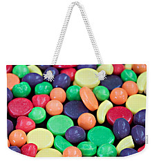 Weekender Tote Bag featuring the photograph Sweet Candy Galore  by Sherry Hallemeier