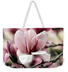 Weekender Tote Bag featuring the photograph Sweet Magnolia by Elizabeth Winter