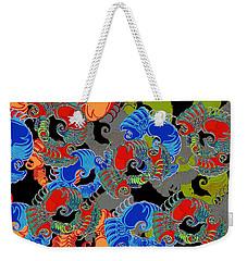 Tainted Shrimp Weekender Tote Bag by Alec Drake