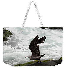 Weekender Tote Bag featuring the photograph Taking Off by Karen Harrison
