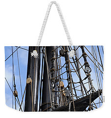 Tall Ship Mast Weekender Tote Bag