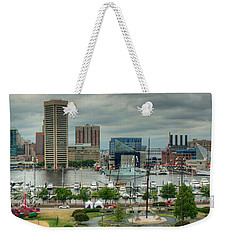 Tall Ships At Baltimore Inner Harbor Weekender Tote Bag