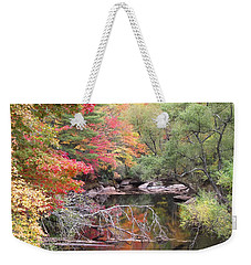 Tanasee Creek In The Fall Weekender Tote Bag