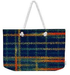 Tangerine Plaid Weekender Tote Bag