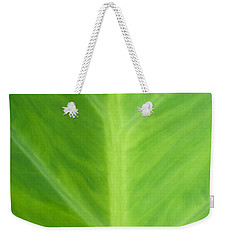Weekender Tote Bag featuring the photograph Taro Or Elephant Ear Leaf by Denise Beverly