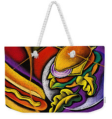 Lunchtime Weekender Tote Bag by Leon Zernitsky