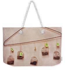 Tea Bags Weekender Tote Bag by Priska Wettstein