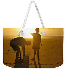 Weekender Tote Bag featuring the photograph Teach A Man To Fish... by Eric Tressler