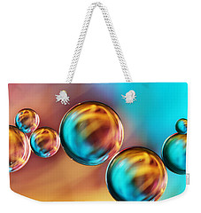 Techno-coloured Bubble Abstract Weekender Tote Bag