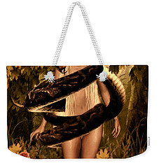 Temptation And Fall Weekender Tote Bag by Lourry Legarde