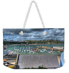 Weekender Tote Bag featuring the photograph Tenby Harbour Pembrokeshire 1 by Steve Purnell