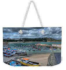 Weekender Tote Bag featuring the photograph Tenby Harbour Pembrokeshire 2 by Steve Purnell