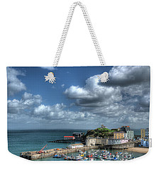Weekender Tote Bag featuring the photograph Tenby Harbour Pembrokeshire 3 by Steve Purnell