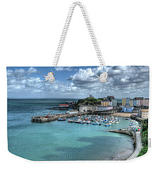 Weekender Tote Bag featuring the photograph Tenby Harbour Pembrokeshire 4 by Steve Purnell