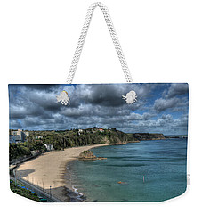 Weekender Tote Bag featuring the photograph Tenby North Beach Pembrokeshire  by Steve Purnell